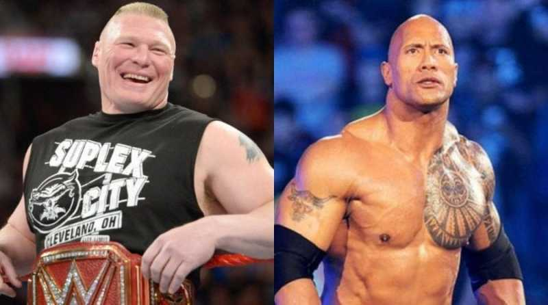 Lesnar y The Rock